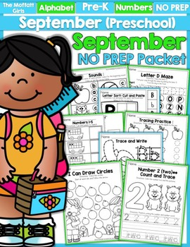 September NO PREP Packet (Preschool)