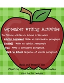 September Writing Activities