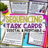 Sequencing Reading Skill Task Cards ( Sequence Events )
