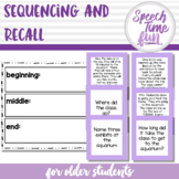 Sequencing and Recall for Older Students