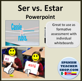 Ser Estar Practice Review Powerpoint Whiteboards