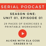 Unit 1: Serial Podcast Lesson Plans + Printable Worksheets