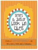 Series & Author Book Bin Labels
