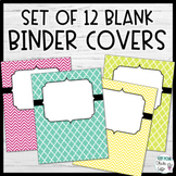 Set of 10 Colorful Binder Covers
