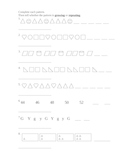 Set of 2 Growing and Repeating Pattern worksheets