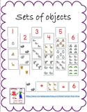 Sets of objects:  Matching set to #:  Eureka Math - Engage