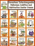 Halloween Addition and Subtraction - Seventeen Interchange