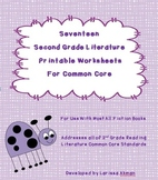 Seventeen Second Grade Literature Printable Worksheets for
