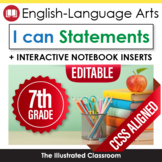 Grade 7 I Can Statements for Common Core ELA
