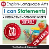 Seventh Grade Common Core Standards Posters I Can Statemen