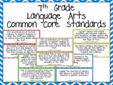 Seventh Grade Common Core Standards- Language Arts Posters