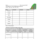 Severe Storms - Science Graphic Organizer and Information Chart