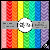 Shades of Chevron {12x12 Digital Papers for Commercial Use}