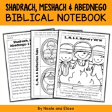 Shadrach, Meshach and Abednego Bible Unit (text, memory ve