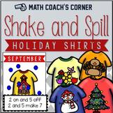Shake and Spill Holiday Shirts, Composing and Decomposing
