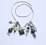 Shakespeare Inspired Beaded Bookmark - Designer Silver