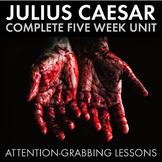Shakespeare's Julius Caesar Unit Plan, FIVE FULL WEEKS of