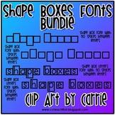 Shape Boxes Font Bundle