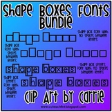 Shape Boxes Font Bundle