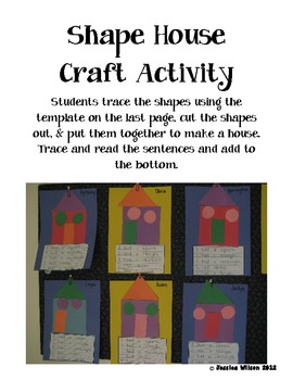 Shape House Craft Activity