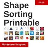 Free Shape matching printable Montessori cards