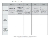 Shared Reading Five Day Planning Form