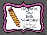 Sharpen Up Your Math Vocabulary