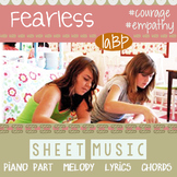 Sheet Music to Fearless - Piano, melody line, lyrics, chor