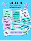 Shiloh Student Worksheets