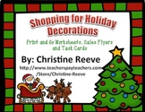 Shopping for Holiday Decorations: Money Skills (autism; sp