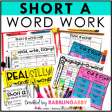 Short A Word Work Activities