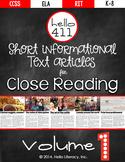 Short Text for Teaching Text Structure {Vol.1} 21st Centur
