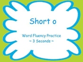 Short O Fluency Powerpoint Flash Cards ~ Real and Nonsense Words
