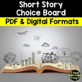 Short Story Choice Board No Prep Use With Any Story
