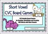 Short Vowel CVC Board Games