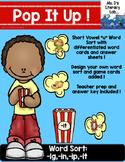Short Vowel I Word Sort {Popcorn}