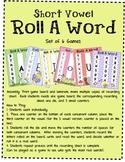 Short Vowel Roll A Word Games - Bug Theme
