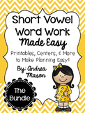 Short Vowel Word Work Made Easy {The Bundle!}