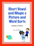 Short Vowel and Magic e Picture and Word Sorts
