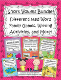Short Vowels Differentiated Word Games, Writing Activities