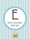 "Short ""e"" or Long ""e"" Sort"