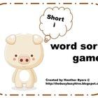 Short i word sort game