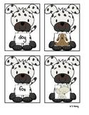 Short o Matching Game- Dog Theme