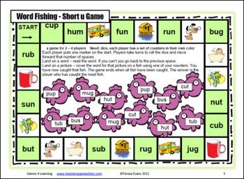 Short u CVC Fishing Board Game