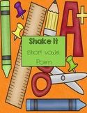 """Short vowels: """"Shake it"""" short vowel sounds poem"""
