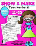 Kindergarten: Show & Make Math Numbers 11-20 (Teen Numbers