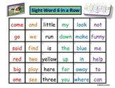 Sight Word 6 in a Row Game (More Early Sight Words)