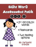 Sight Word Assessment Pack Set 2 (2nd 100 Dolch Words)