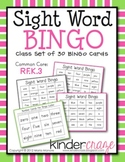 Sight Word BINGO featuring Color words and Number words