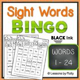 sight-words {BINGO-words 1 through 24 BLACK ink}
